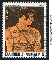 Achilles - GREECE - CIRCA 1983: stamp printed by Greece,...