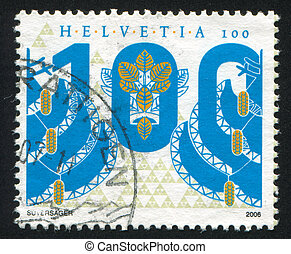 Numeral - SWITZERLAND - CIRCA 2006: stamp printed by...