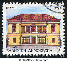 municipality - GREECE - CIRCA 1988: stamp printed by Greece,...