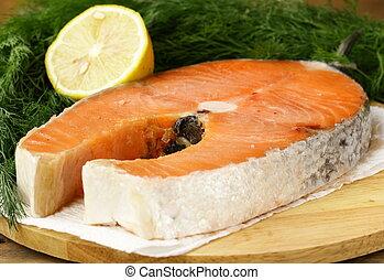 red delicatessen  fish  salmon