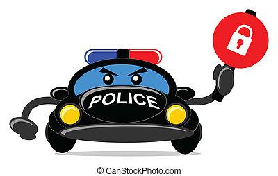 police car - cartoon police car