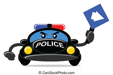 police car - cartoon police car