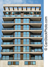 Apartment building - Fashionable apartment building in...