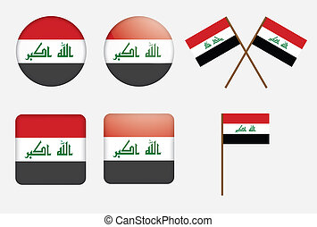 badges with flag of Iraq