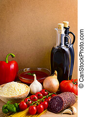 italian food - still life concept with italian food