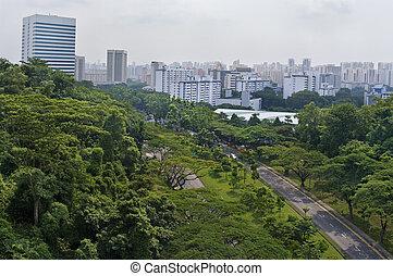 cidade, vista, Cingapura
