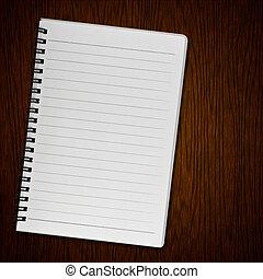madera, viejo, Plano de fondo, cuaderno, blanco