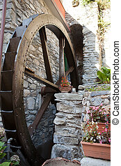The old watermill in Manarola