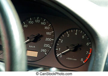 Dashboard of speed driving