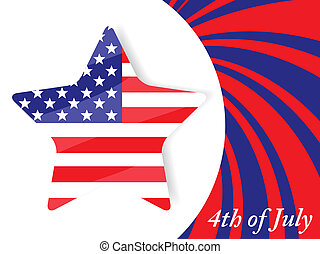 4th of July Independence Day - Vector illustration of 4th of...