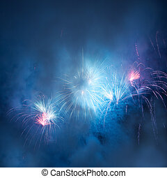 Beautiful fireworks - A beautiful fireworks in the night sky...
