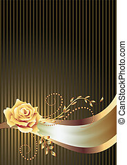 Background with golden ornament and a place for your text