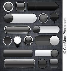 Black high-detailed modern buttons.