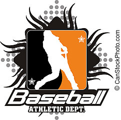 baseball - The beater of a baseball team in a Silhouettes