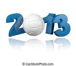 Volleyball 2013 design with a White Background