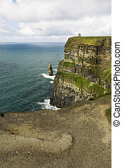 Cliffs of Moher, Ireland - View on the Cliffs of Moher,...
