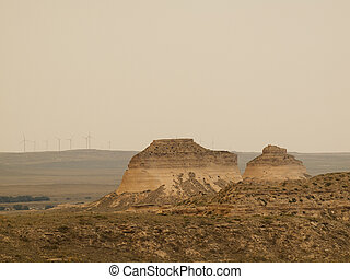 Pawnee Buttes - The Pawnee Buttes are two prominent buttes...