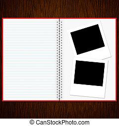 madera, viejo, foto, cuaderno, Plano de fondo, blanco