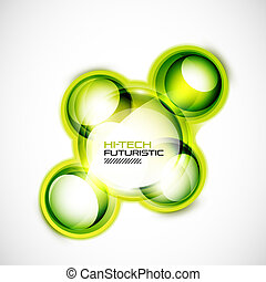 Abstract glass shapes - Hi-tech vector abstract glossy shape