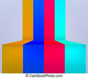 Retro Stripes Stage