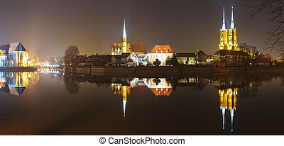 panorama cathedral island in wroclaw