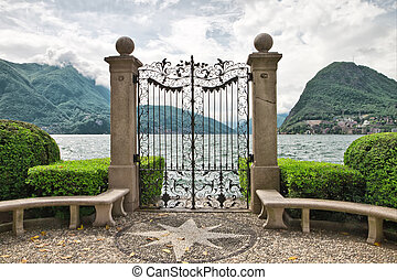 Lake Lugano. Switzerland. Europe.