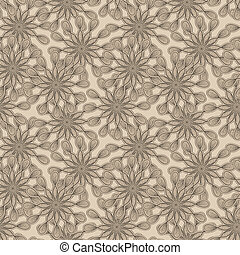 vector seamless floral monochrome pattern with bizarre...