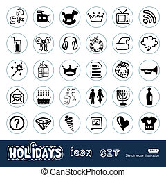 Holidays and celebration web icons