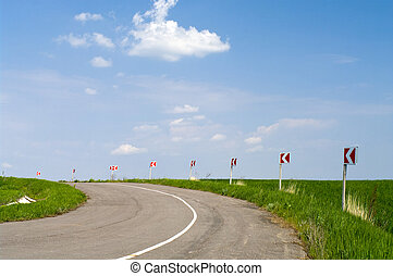 Typical steppe road in Ukraine