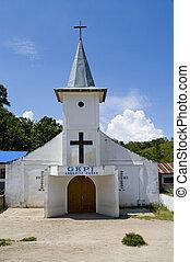 Church  at island Samosir, Lake Toba, Sumatra, Indonesia.