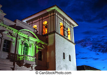 Popayan Clock Tower - The clock tower in Popayan, Colombia...
