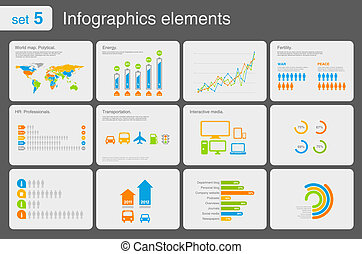Infographics elements with icons For business and finance...