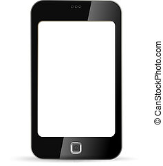 Touchscreen phone. Blank.