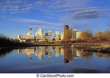 Autumn Skyline - A few years ago the Bow River used to have...