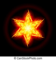 Fire star - Abstract Fire star. The form of the second....