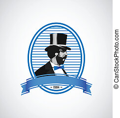 Logo template - vintage man illustration - Vector vintage...