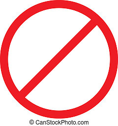 Forbidden sign isolated. Vector EPS8