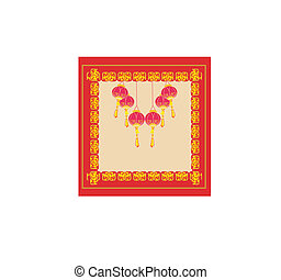 Chinese New Year with lanterns card