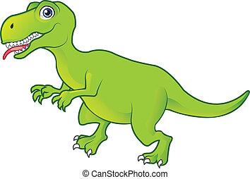 T Rex  - Green T Rex Cartoon