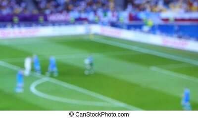 soccer match - blurred Match of an european football soccer...