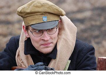 student soldier 1918 - reenacting