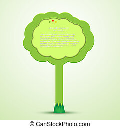 Vector creative tree with place for your text. Eps 10