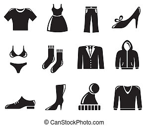 Clothes icons - Clothes icon set