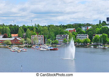 Lappeenranta. Finland - View of the town of Lappeenranta...