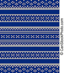Knit vector seamless blue texture - Knit texture. Fabric...