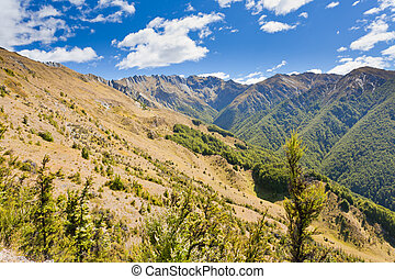 Alpine scenery in Southern Alps, New Zealand - Beautiful...