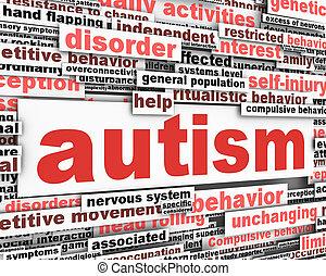 Autism conceptual design. Developmental disability message