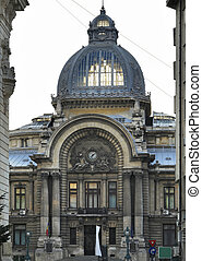 Bucharest - CEC Palace in Bucharest, a city located in...