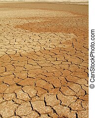 Dry lake bed - Cracked dry mud in lake bed during drought....