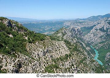 Verdon - les gorges du verdon in the South of France Europe...